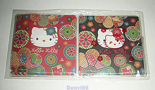 VERY HTF! 2000 Sanrio HELLO KITTY Note Sheets w/Storage Pouch from JAPAN! NEW!