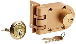 NU-SET 2125-3 Jimmy Proof Style Inter Locking Deadbolt Lock
