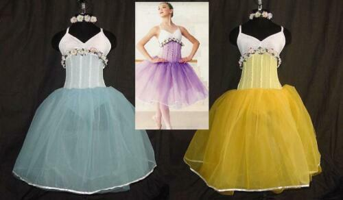 Group Lot of 3 Child Small GOLD Ballet Tutu Dance Costume
