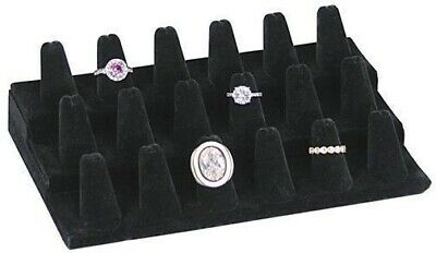 18 Finger Ring Display Black Velvet Jewelry Display Pawn Shop Retail 245-18bk