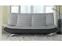 3 seater grey charcoal sofa bed x2