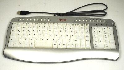 Beleuchtete Multimedia-tastatur (Beleuchtete Multimedia Tastatur QWERTZ deutsch USB Computer silber/weiß OVP NEU)