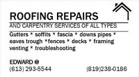 roofing repairs sameday service 613-293-5544 --819-328-0186
