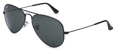 Ray-Ban  Aviator RB3025 Black lens 58mm on Black Frame Sunglasses