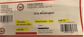 London Palladium Tickets - Dick Whittington Panto - 4 Jan, 14.30 hrs