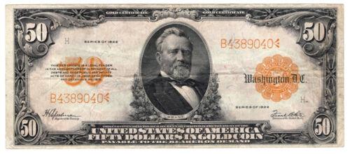 1922 $5 Gold Certificate.  VF.