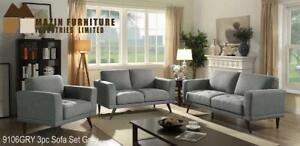 Upholstery Sofa Set in Grey (MA357)