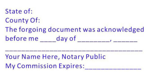 Notary  (ACK-NOTARY) - Custom Self-Inking Trodat 4926  -Acknowledgment Stamp