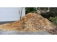 Free woodchip delivered within a 10 mile radius of bookham