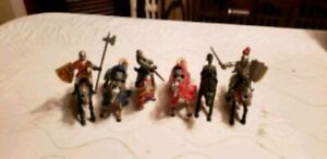 6 Medieval Horses and 3 Knights