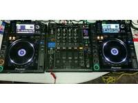 X2 CDJ 2000 CD MP3 Decks & DJM 900 Nexus Mixer