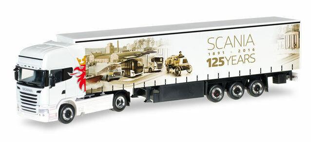 Détails sur Herpa 306461 Scania R TL Plan de Rideau - Trailer \