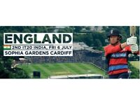 India Vs England 2nd T20 Cardiff 10 tickets in a row!