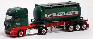 Herpa LKW MB Actros 11 Giga Tank-Cont-Sz Franz Fischer
