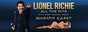2 Lionel Richie & Mariah Carey Tickets $300 OBO,Worth $446.00