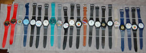 Lot of 22 NEW Plastic Watches Various Styles - $0.90 a watch!