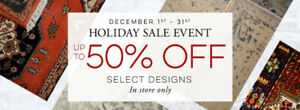AREA RUG HOLIDAY SALE - UP TO 50% OFF - PERSIAN RUGS AND MORE