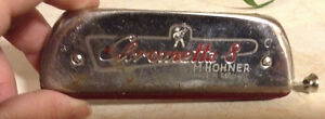 RARE VINTAGE CHROMETTA 8 IN THE C HARMONICA M-HOHNER GERMANY