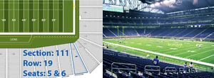 Detroit Lions NFL Tickets vs Green Bay Packers January 1st 1pm London Ontario image 2
