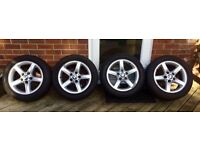 BMW 1 series e87 alloy wheels and tyres (set of wheels)