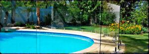 """Panneau en verre trempé pour clôture de piscine. 1/2"""" (12mm)"""