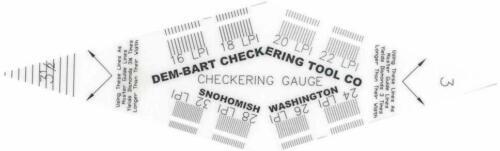 Dem-Bart Checkering Gauge for Gunsmith Gunstock Measuring Patterns