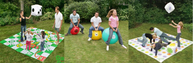 PREMIUM OUTDOOR PARTY GAMES PACKAGE INC SPACE HOPPERS / TWISTER / SNAKES&LADDERS