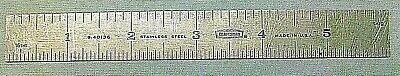 Vintage 6 Craftsman 9-40136 Machinist Rule Stainless Steel 8ths 16ths 32 64