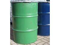 Steel drum, metal drum, burner bin, burning drum, wood burner, chiminea £15 each or 2 for £25