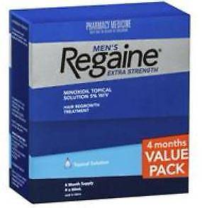 Regaine Solution Mens Extra Strength 4 for 3 - Unopened Box