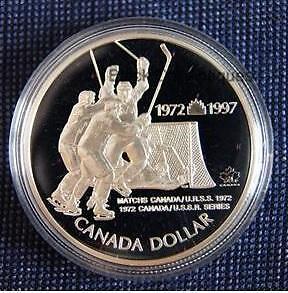 RCM 1972-1997 Hockey Team Canada Sterling Silver Proof Dollar Co