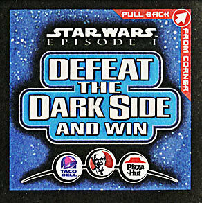 Star Wars Episode 1 Pogs/Discs - Defeat the Dark Side and Win.