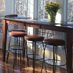 Custom High Dining Room Table and 6 stools