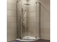 Cooke & Lewis Luxuriant Quadrant Shower Enclosure with Hinged Door 900mm 900mm - NEW UNUSED