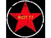 RIOT 77 require experience lead guitarist