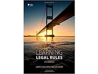 Learning Legal Rules (9th edition) by Holland and Webb