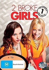 2 Broke Girls - Season 1- DVD (New Sealed) Region 4 Australia