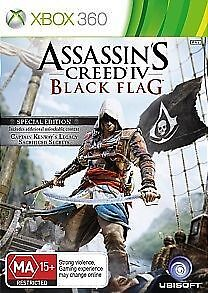 Assassin's Creed Black Flag (Limited Edition)  XBOX 360 Game + Booklet PAL