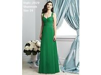 Dessy Bridesmaid Dress 2929 in Shamrock size 14