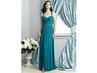 Dessy Bridesmaid Dress Occassion Dress 2926 in Oasis Teal size 4