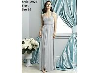 Dessy Bridesmaid 2926 Dress Prom Dress in Frost size 16