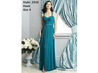 Dessy Bridesmaid Dress 2926 in Oasis size 4