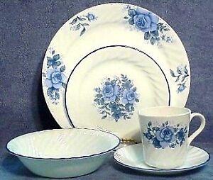 Corelle blue velvet dishes