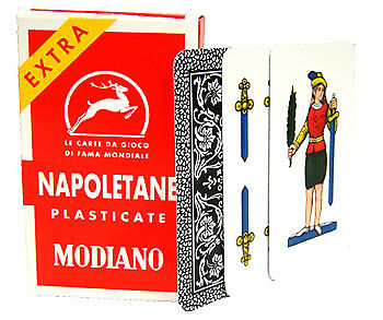Modiano Napoletane 97/25 Italian Playing Cards w/ Scopa Briscola Instructions