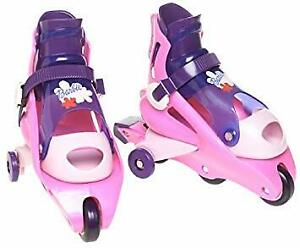 Used Barbie inline style Girl Skates w/stabilizers ,adjusts 6-10