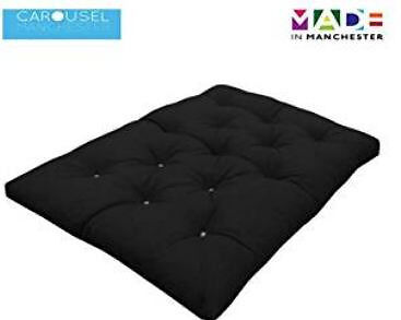guest bed memory foam futon mattress roll out bed double bed black uk