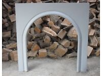 Large Vintage Cast Iron Fire Arch Fire Place
