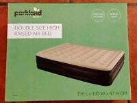 Double Raised Air bed - New in box. Never opened RRP £38.99