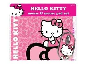 NEW: HELLO KITTY OR DISNEY PRINCESS MOUSE AND MOUSE PAD