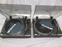 SoundLab DLP12 Professional Turntables with stylus' and power leads